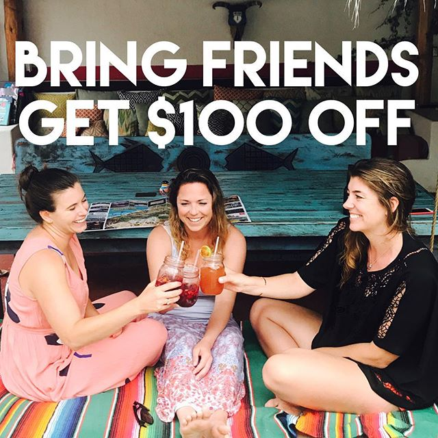 Traveling is more fun with friends! Book a stay for July or August 2018 and get $100.00 off when you bring a friend. ......................................................................... HOW IT WORKS:  Convince a friend to travel with you and each SEPARATE room reservation will receive $100 OFF.  3 Nights Minimum Stay  Travel in July and August 2018  Use code LBFRIENDS100 at checkout and indicate your fellow traveler(s) in the referral section.  Your code will only remain valid if you and your invited parties book within the same 24 hour window and indicate each other in the referral section.  If your friends do not book, your reservation will be honored at our standard rates.  Standard booking and cancellation policies apply . ............................................................................. Special thanks to @kcarl6 and @kaitlinfoe for their amazing modeling work!