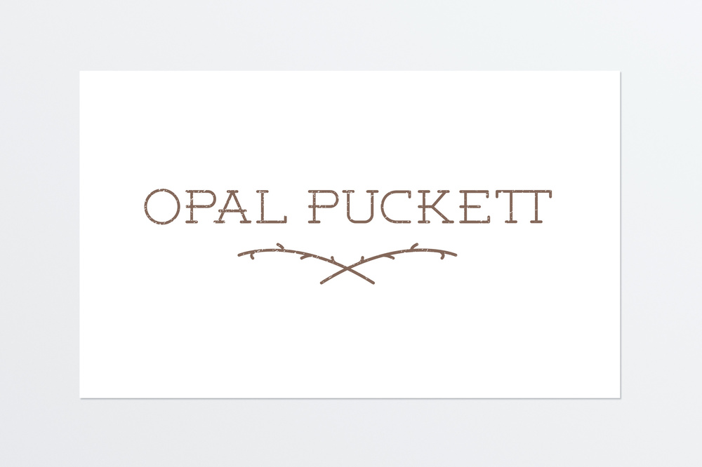 Opal Puckett Logo design for folk band Opal Puckett.