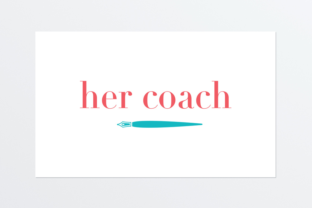 Her Coach Logo concept for Mary Murphy, a career and life coach with a female focus.