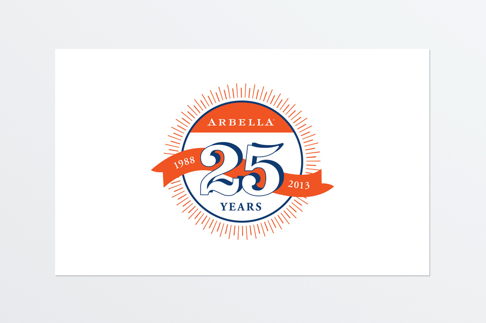 25 Years Anniversary logo concept for Arbella Insurance.