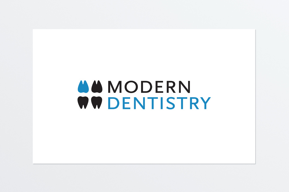 Modern Dentistry Logo concept for a small dental practice.