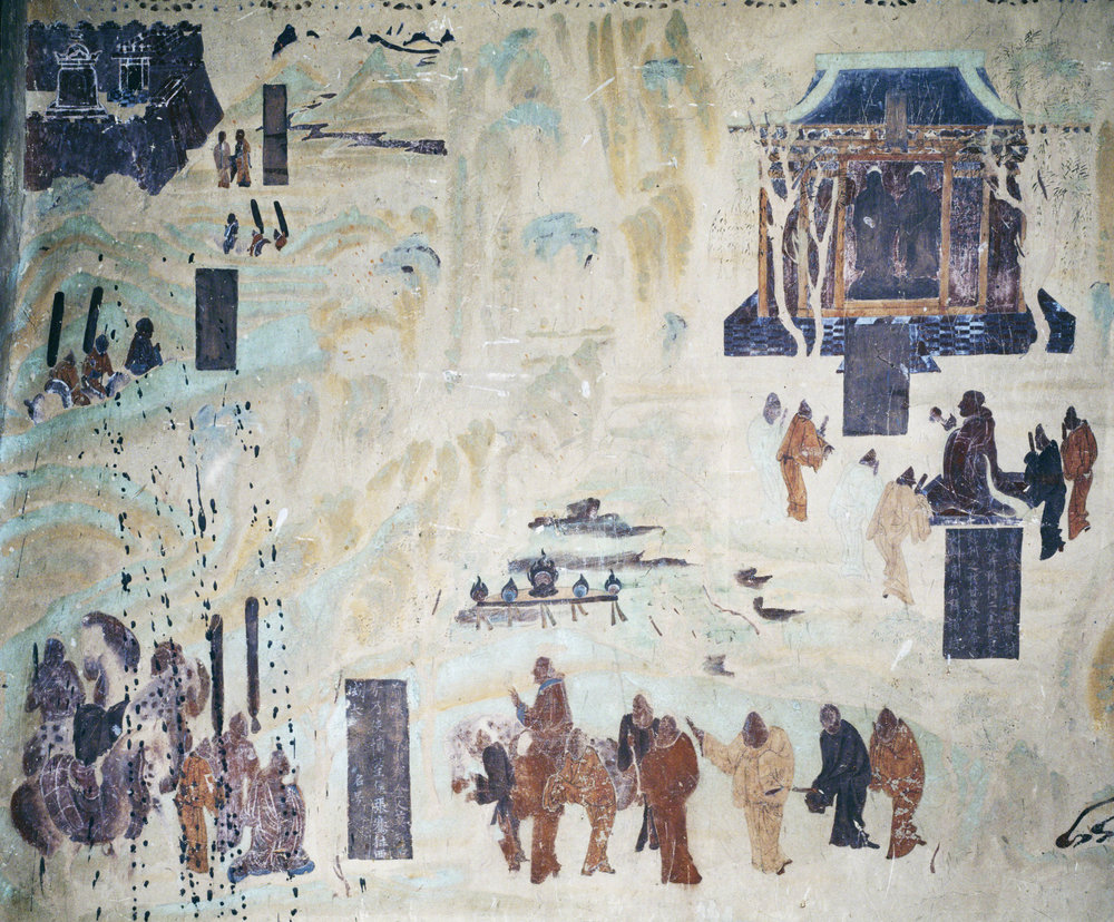 North wall fresco in Mogao Cave 323. Early Tang. Image Courtesy of the Dunhuang Academy.