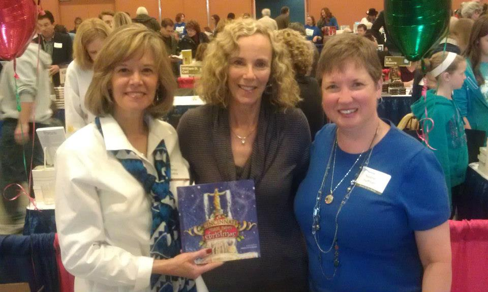Nadine and Marilyn with publisher Marcy Hawley (middle).