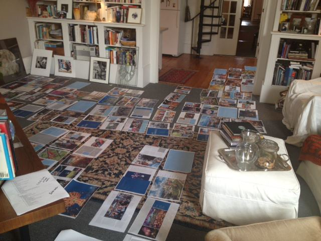 The pages of Revealed: Columbus arranged in our publisher's office. At OFP, each page is designed individually.