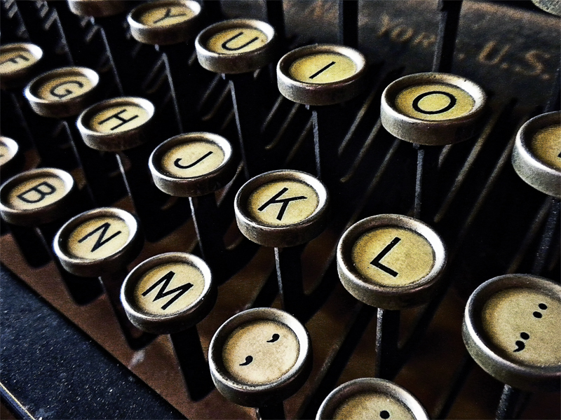 typewriter, writing routines that work