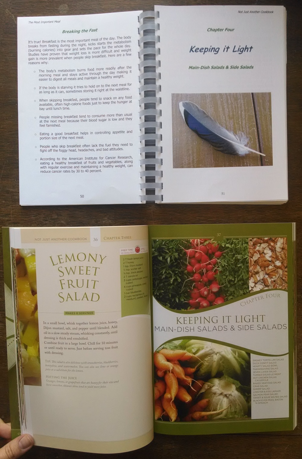 book publishing services, professional design, Not Just Another Cookbook