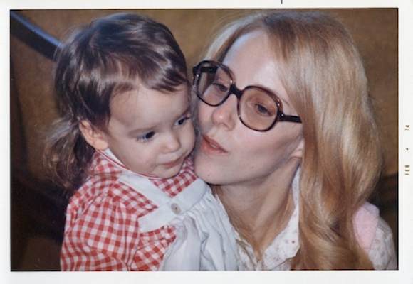 Marcy Hawley with daughter, Sarah, 1974