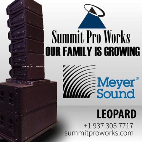The Summit Pro Works family is growing. We continuously add to our line of sound gear. Visit us at www.summitproworks.com. Secure Summit Pro Works to run sound at your event.