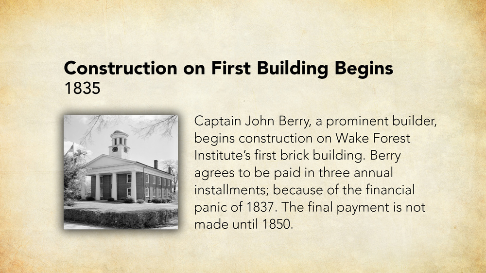 1835 - Construction on First Building Begins.jpg