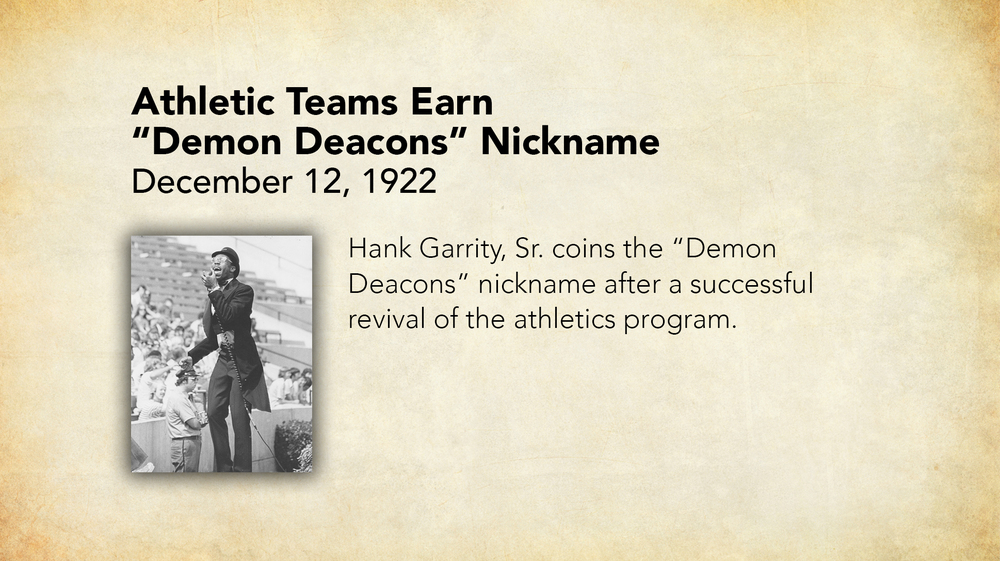 1922 - Athletic Teams Earn Demon Deacons Nickname.jpg