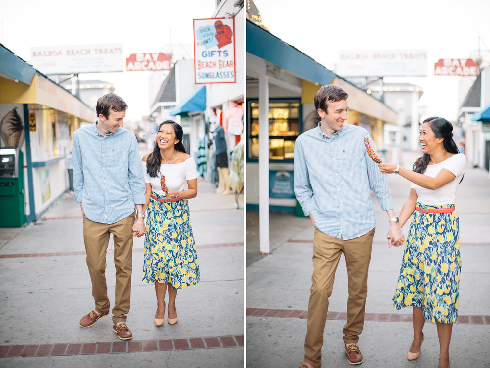 Newport Beach Balboa Fun Zone Engagement Krizia and Ben-4.jpg
