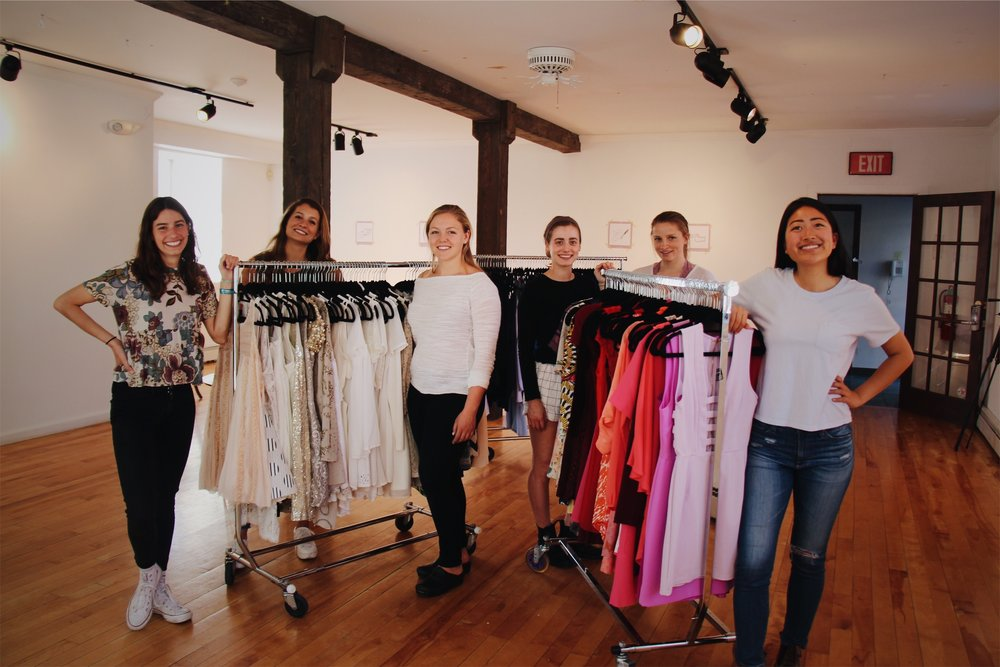 Lena Jacobs, Rachael Salerno, Linley Shaw, Charlotte Reider-Smith, Greta Hulleberg, and Michelle Yang, of Share to Wear