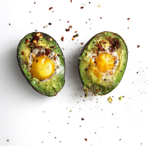 Avocado baked egg anyone? Eating high-quality protein foods can help build your muscles and increase your metabolism.