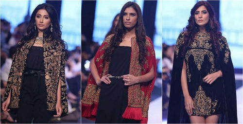 Ayesha Hashwani's golden treasures at Fashion Pakistan Week in Karachi