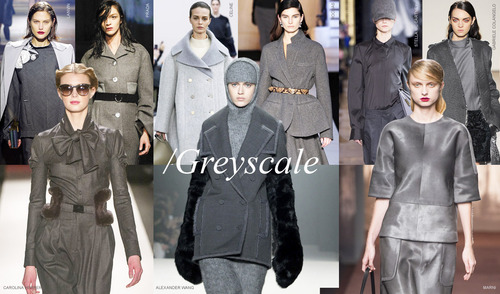 Greyscale at Fashion Week