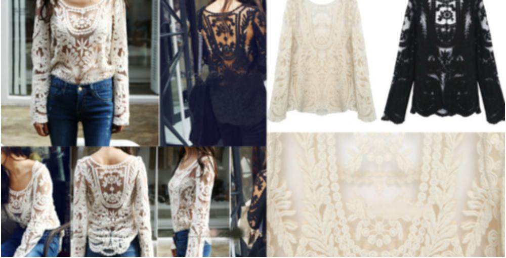 Crochet tops from eBay