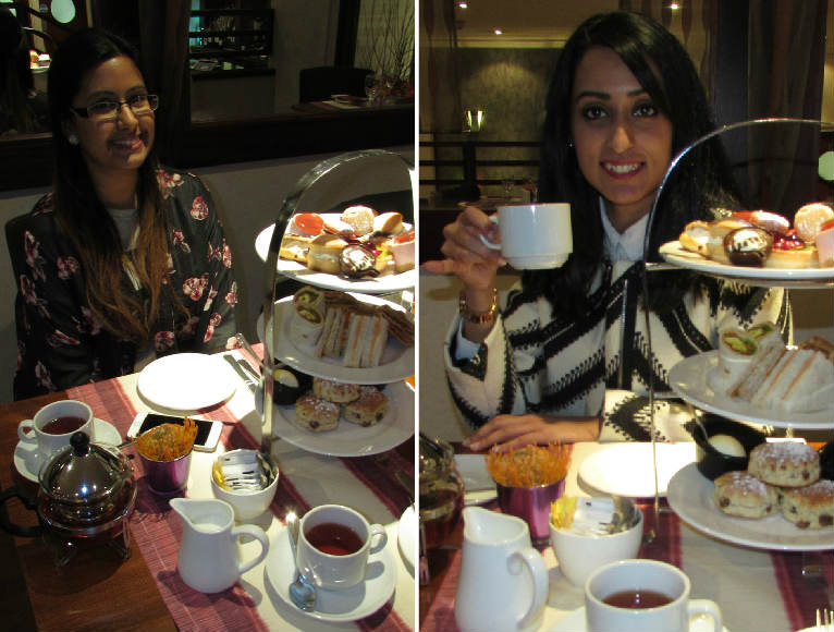 Safeera & Sara at Indian Afternoon Tea
