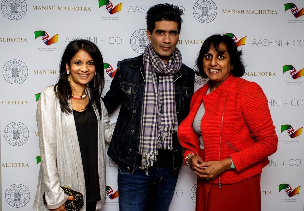 L to R - British Asian Trust ambassadors Sonali Shah, Manish Malhotra and Ritula Shah.jpg