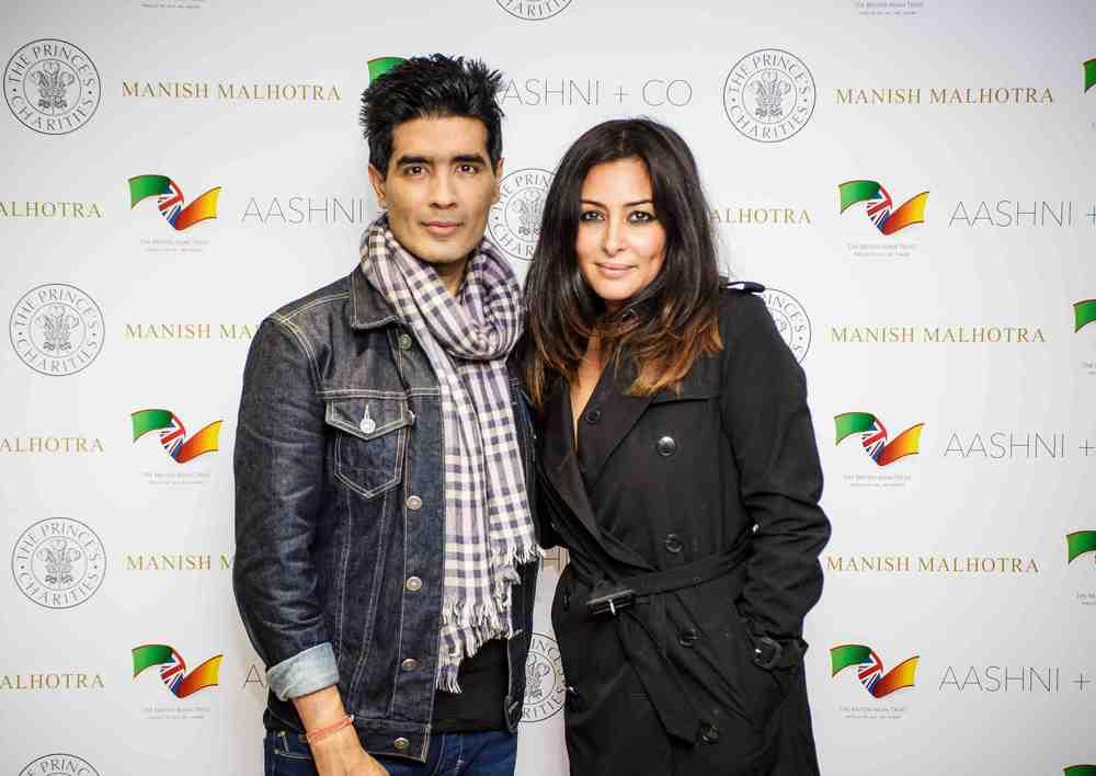 Manish Malhotra with British Asian Trust ambassador, actress Laila Rouass.jpg