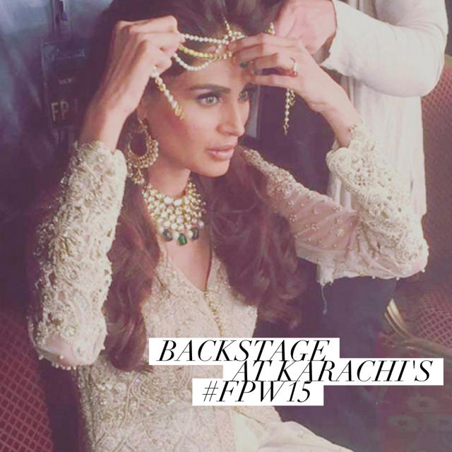 Backstage Beauty Lengha Karachi Fashion Week Pakistan 2015.jpg