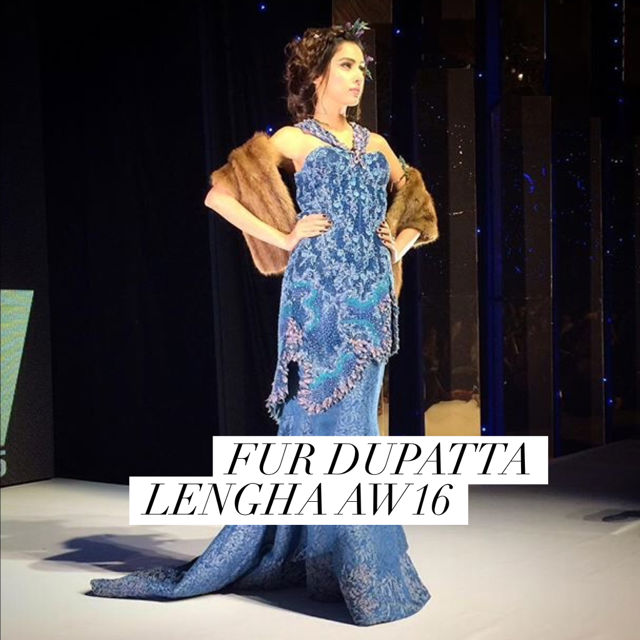 Fur Dupatta Lengha Karachi Fashion Week Pakistan 2015.jpg