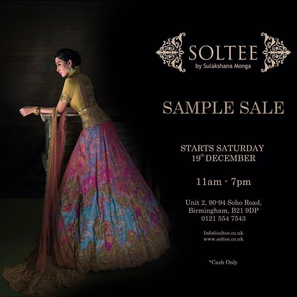 Soltee by Sulakshana Monga presents UK Sample Sale