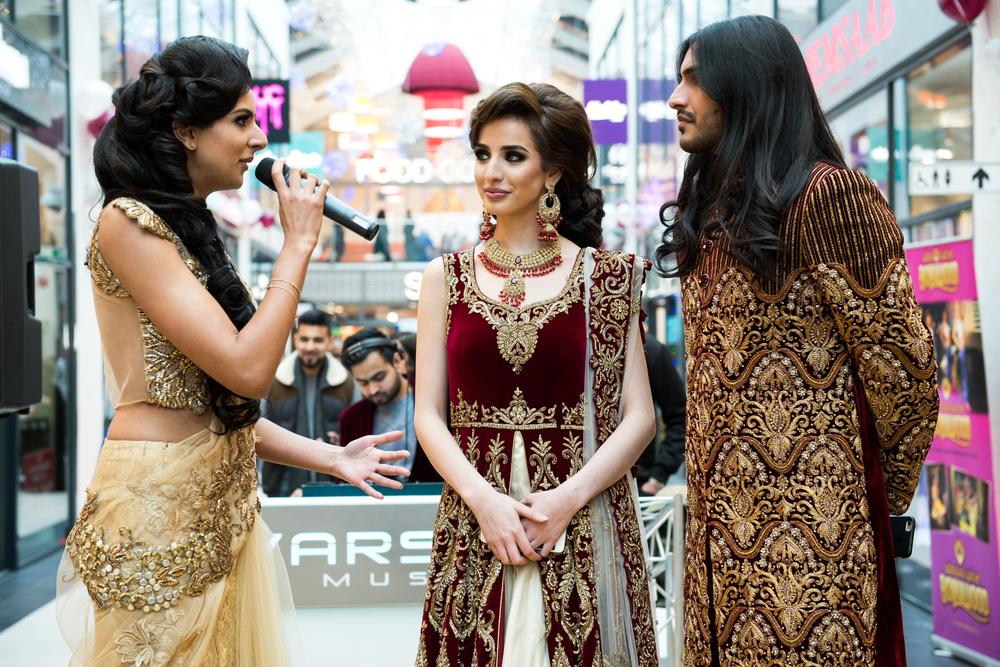 Nish Sian, Nu Sound Radio with models, Nargis and Rahi.jpg