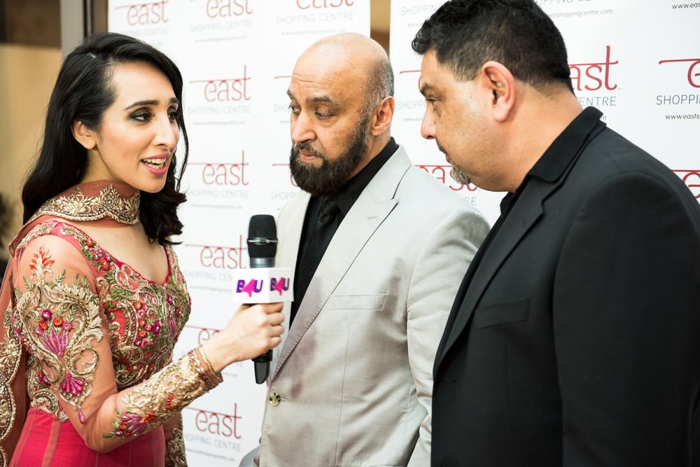 Attika Choudhury, B4U Interviewing Mohammed Akhtar and Bob Popat, Owners East Shopping Centre.jpg