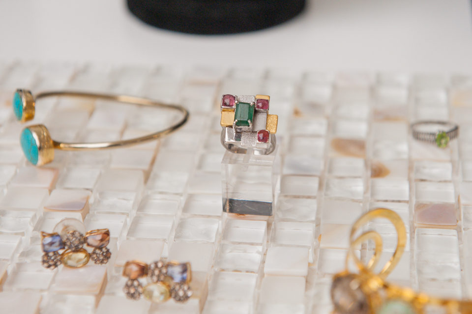 A selection of Meher Daultana's jewellery at The Scoop London