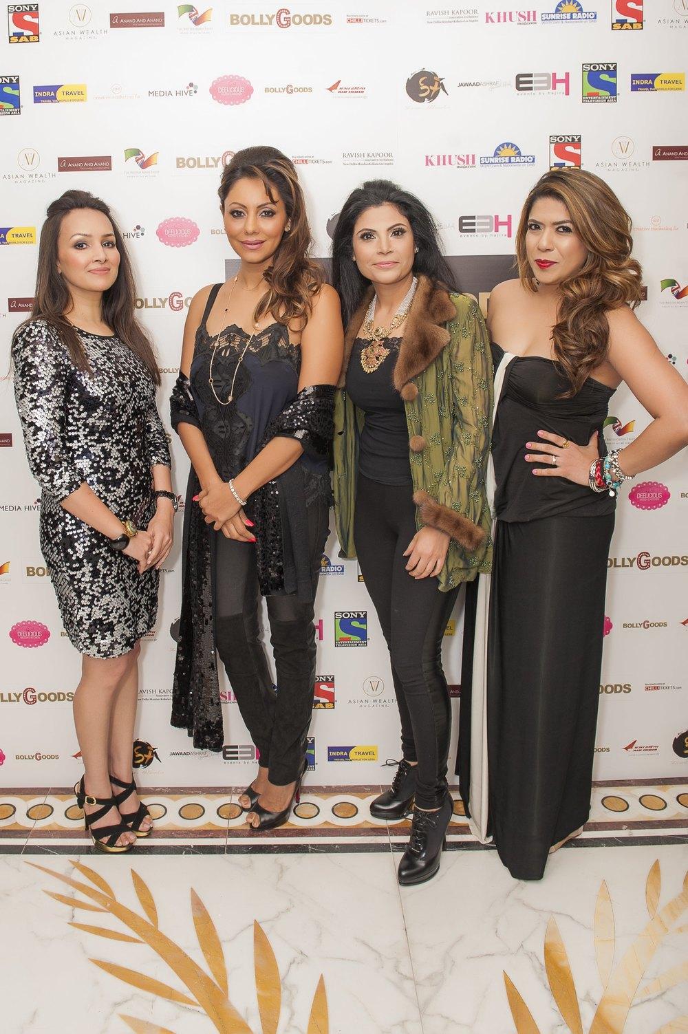 Promila Jain Bahri; Gauri Khan; Shivani Ahluwalia; Monica Sambharya Parikh, Co-CEO & Director, Trescent Lifestyles at BollyGoods Edition 2, London (photographer credit - Shahid Malik).jpg