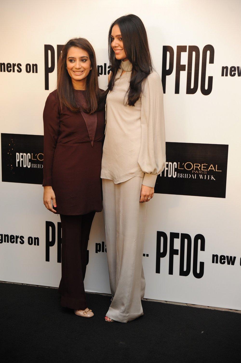Shakira Usman & Saira Faisal both wearing Saira Shakira-1.JPG