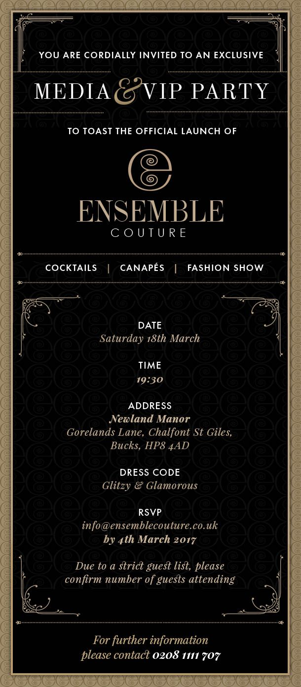 Ensemble Couture Launch Party