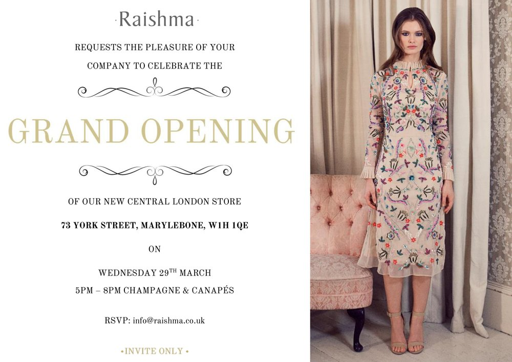 Raishma Couture Grand Opening in Marylebone