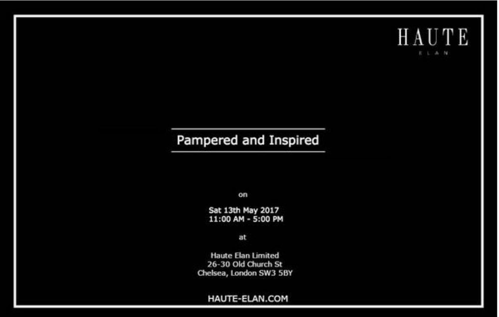 HAUTE ELAN: Pampered & Inspired