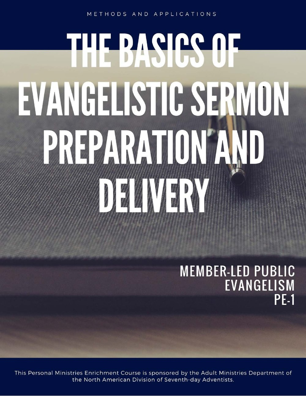 The personal ministries participant will examine and acquire a knowledge and understanding of the basic rules of evangelistic sermon preparation and will be to apply these rules in the development and presentation of evangelistic sermons. - <<Click the cover to view