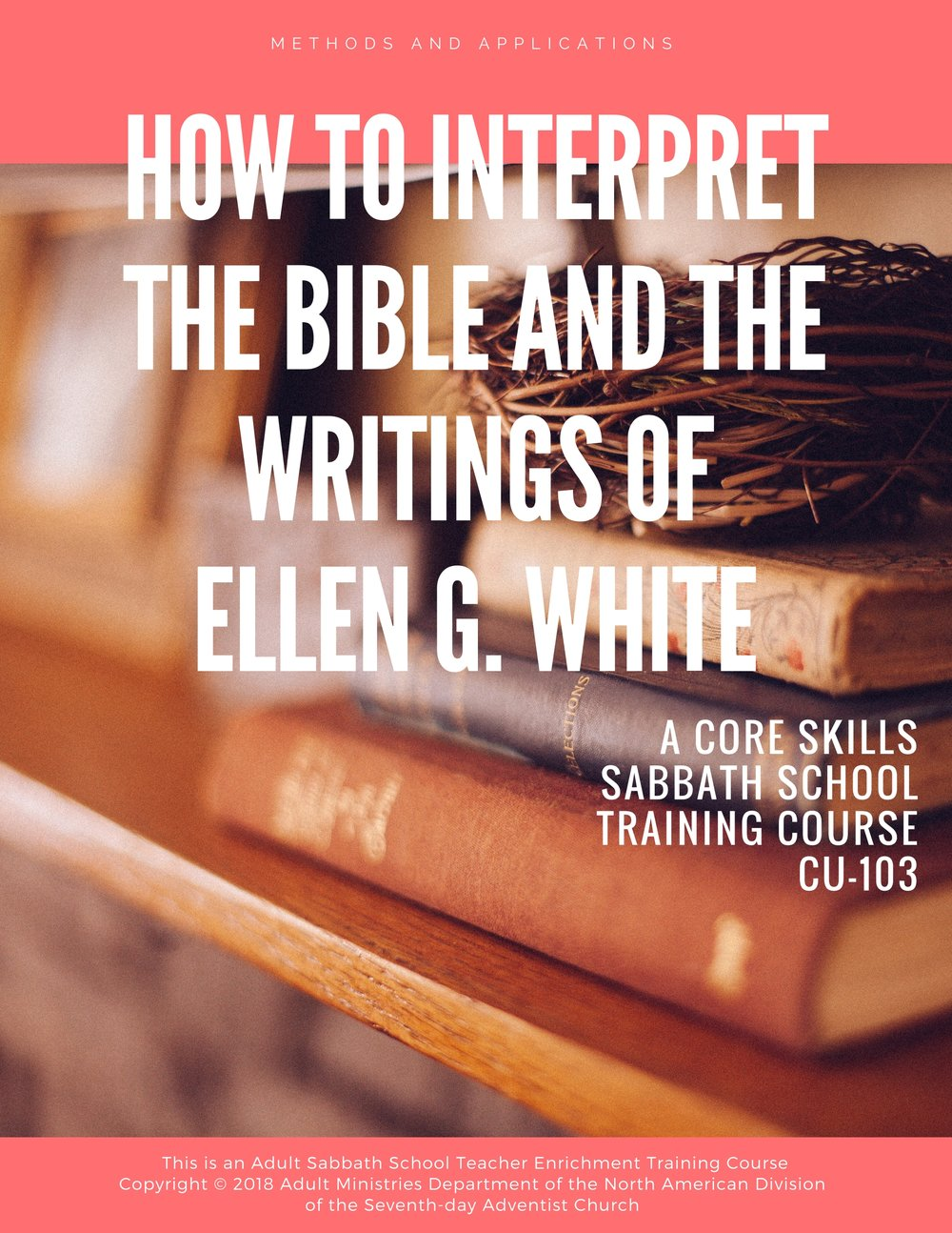 "It is indispensable for a Sabbath School teacher/discussion leader to know how to correctly interpret the Bible. In the case of Seventh-day Adventists the same responsibility applies to correctly understanding and using the writings of Ellen G White. This science of biblical interpretation is called ""hermeneutics."" - <<<CLICK COVER TO VIEW"