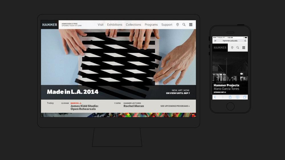 Hammer Museum Site – UX & UI