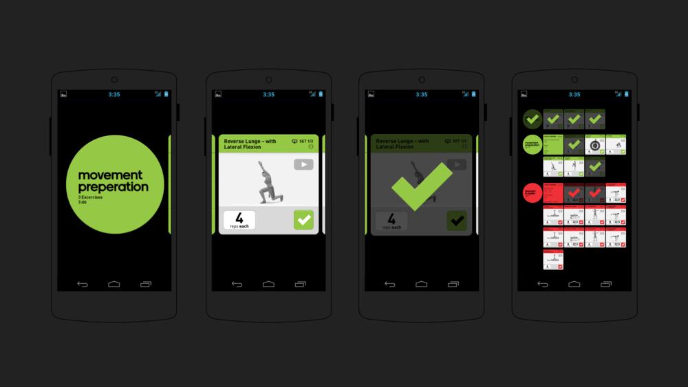 adidas miCoach Strength & Flexibility – UX & UI