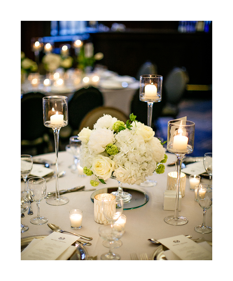 Floral Decor at Hotel Allegro by Fleur Inc, photo by Kina Wicks Photography,  Coordination by Estera Events