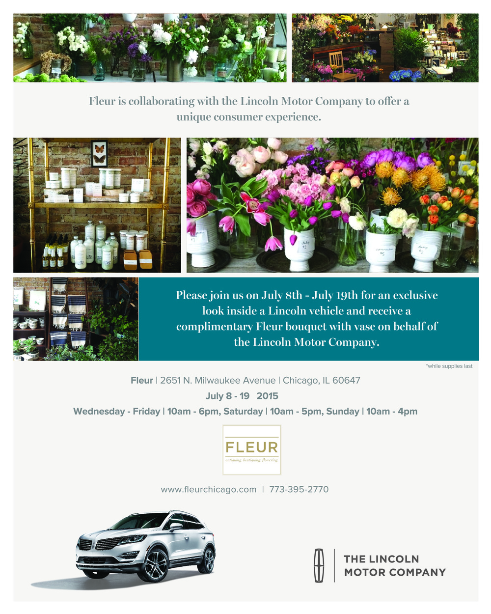 Lincoln Motor Partners with Fleur Inc