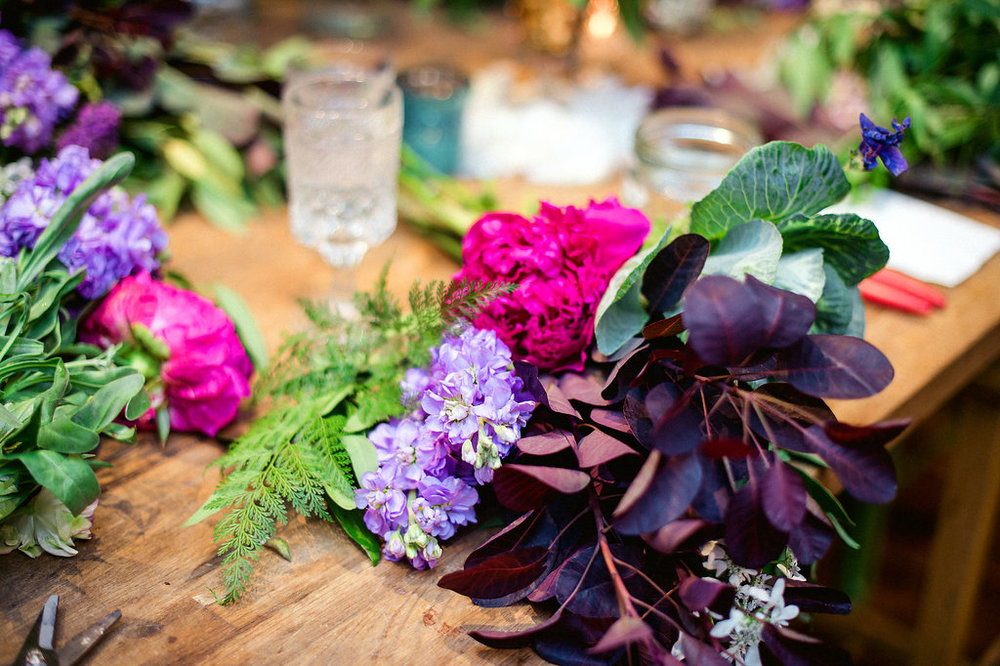 Calligraphy with Layers of Loveliness and floral design class at Fleur.  Photo by Amanda Megan Miller.