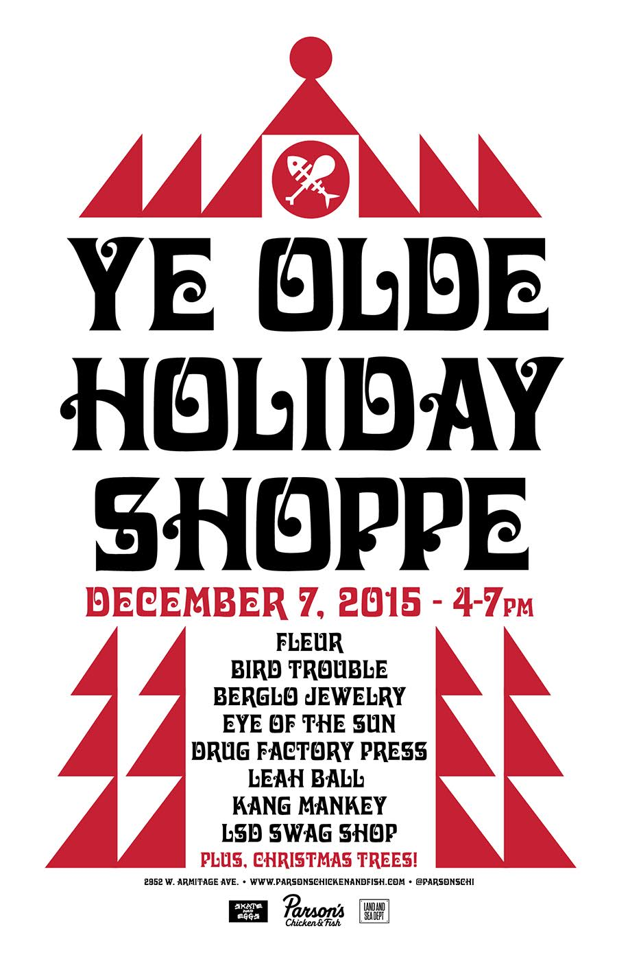 Ye Olde Holiday Shoppe at Parson's!