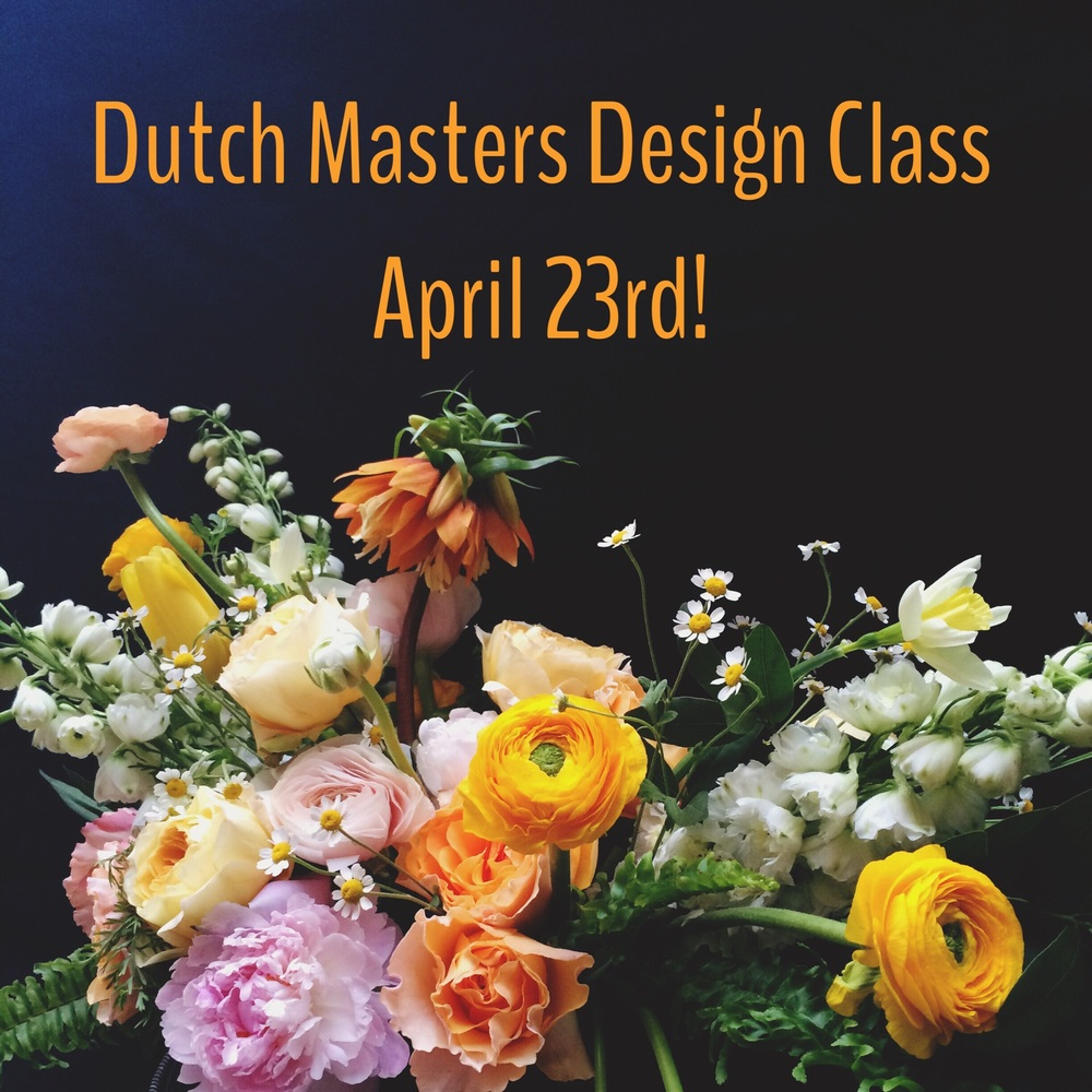 Dutch Masters Design Class with Fleur Inc