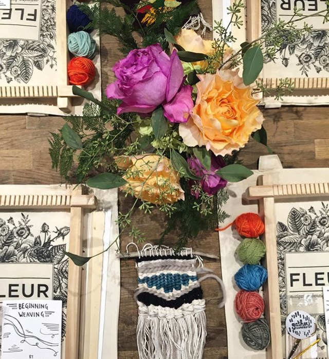 Gather Handwoven Weaving Class at Fleur