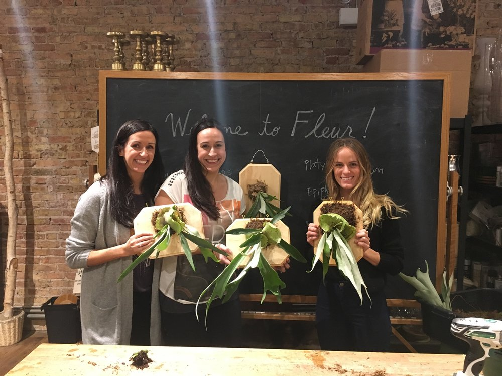 Staghorn fern class at Fleur!