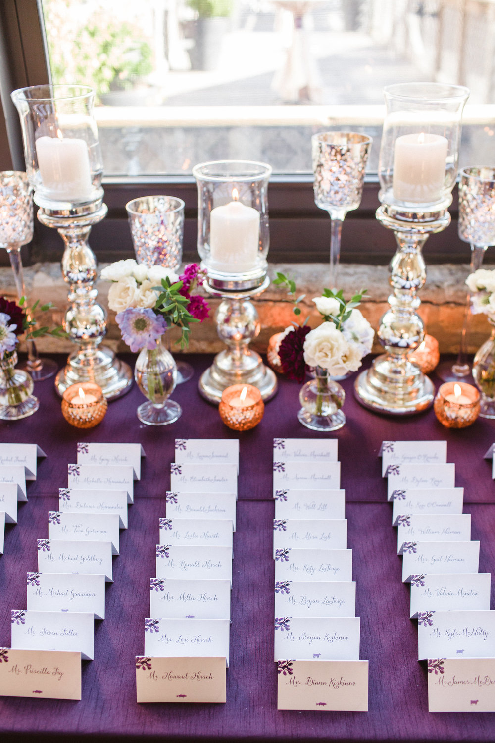 Fleur-Inc-Amanda-Megan-Miller-Photography-Ravenswood-Event-Center-Chicago-Summer-Romantic-Wedding-Lola-Event-Productions-escort-card-table