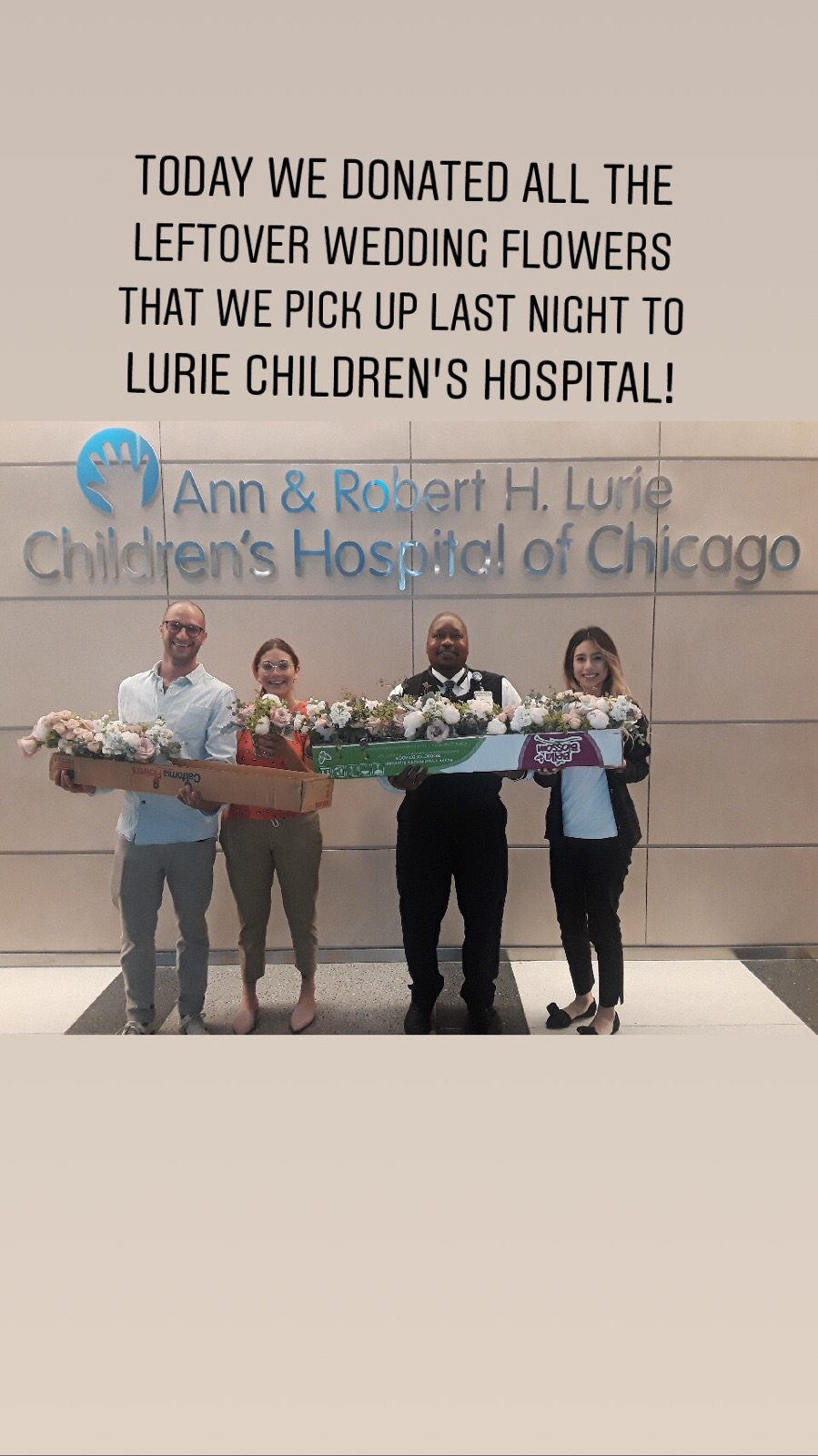 Fleur-Inc-Donating-Fowers-Lurie-Children's-Hospital