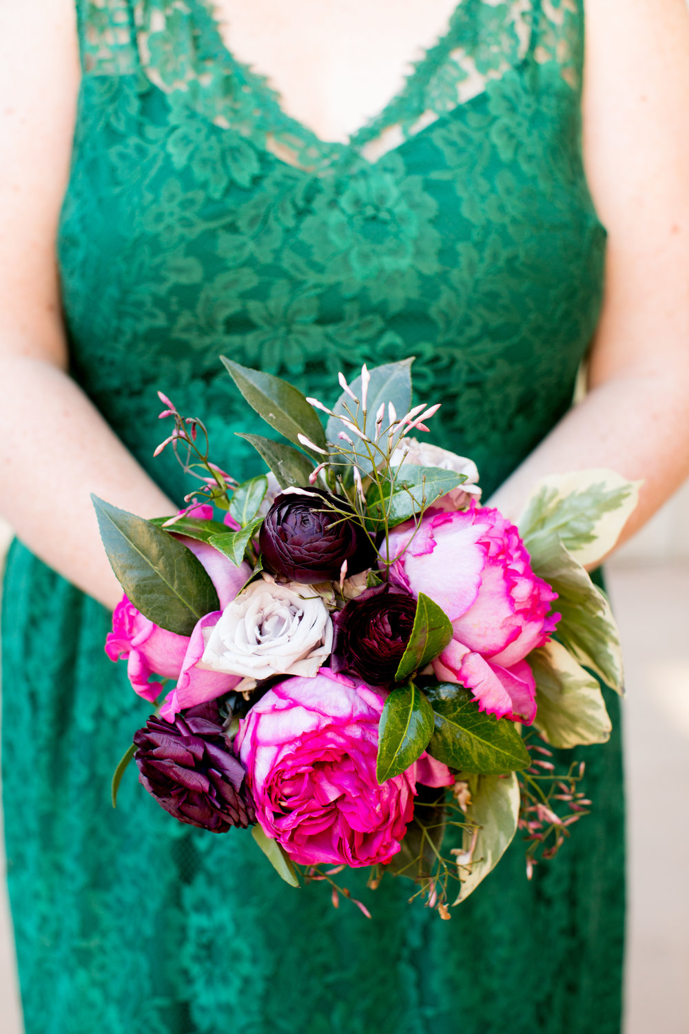 April bridesmaid bouquet by Fleur Inc.  Photo by Olivia Leigh Weddings.