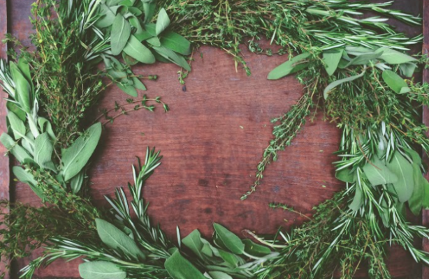 Fresh Herb Wreath Class at Fleur Inc