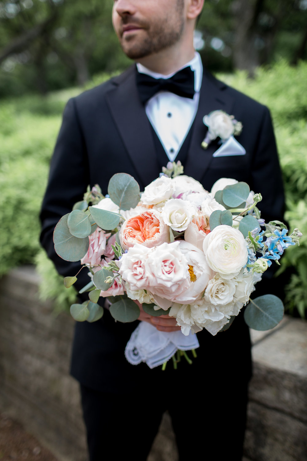 Flowers by Fleur, Photo by Annie Steele Photo, Planning by BCR Events at the Chicago Botanic Gardens